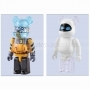 100 % Bearbrick Wall-E and Eve Set
